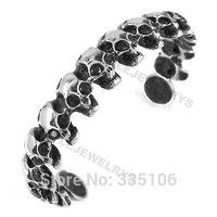Free shipping! Rhinestone Eye Skull Bangle Stainless Steel Jewelry Gothic Biker Cuff Bangle Motor Bracelet SJB0175