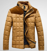 free shipping men's down jacket , stand collar winter fashion down  jacket casual mens colored parka coat 199