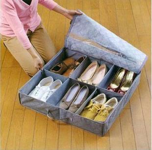 new style Bamboo Charcoal Fiber Non-Woven Folding storage box shoe(China (Mainland))