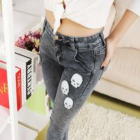 #8837 New 2014 fashion high quality women lady girls denim jeans vintage slim full length pencil pants