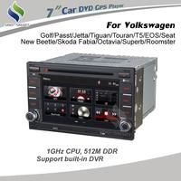 1GHz CPU 512M DDR black Car DVD GPS navigation for Volkswagen Golf/Passt/Jetta/Tiguan/Touran/T5/EOS/Seat/New Beetle before 2005