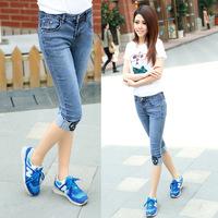 #3605 New 2014 fashion high quality women lady girls denim jeans capris pants
