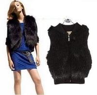 Free shipping 2014 short design female fox fur vest leather vest outerwear plus size fur vest women coat