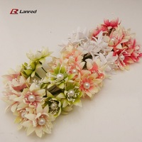 New Design 36pcs 4cm Handwork Fabric Faux Flowers For Home Decoration Scrapbooking Wedding Flower Free Shipping FE-46