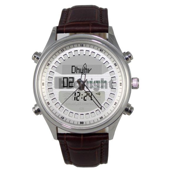 Qibla Pray Watch SR810 Digital Compass EL Backlight Stainless Steel New(China (Mainland))