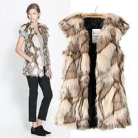 Chic Lady Faux Fur Vest Winter Warm Coat Outwear Long Hair Jacket Waistcoat Tops Drop shipping