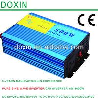 500W Pure Sine Wave dc ac 24v 220v effiency converter,intelligent dc/ac power inverter