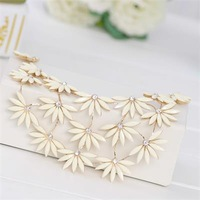 2015 hot selling  necklace  Fashion short  flower necklace for women
