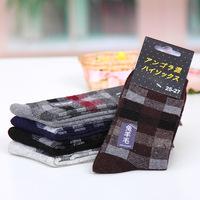 Fashion 2014 Square Diamond Thick socks Promotion ThermalRabbit Wool Warm Sock winter socks for men