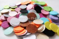 DIY 2.5CM Round Felt fabric pads accessory patches circle felt pads, fabric flower accessories 1000PCS  MIX COLORS