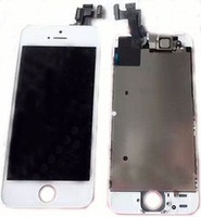 free shipping 100% Test  For iphone 5S lcd Touch Screen Digitizer Assembly  with camera  100pcs  AC