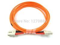 red black boot sc mm  fiber optic patch cord