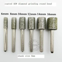 export quality for mini grinder tools 6pcs grinding kit made of 46# diamond  and 6mm shank at good price for home use