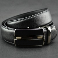 Hot!!! 2014 1p/lot New Arrival leather belt ,Good Quality Automatic buckle black business trouser belts for men ay671430