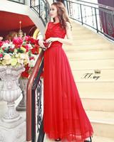 New 2014 women summer bohemia beach dress fairy long dress party chiffon tank dress casual dress D131
