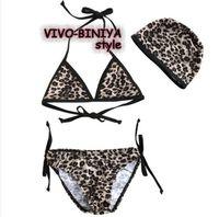 New baby girls bathing suit Swimwear Leopard kids Swimsuit Bikini