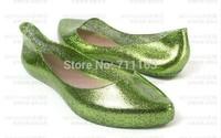 New Arrives Comfortable womens girls Elegant  Soft sandals Jelly Slip on Sliders Fashion Glitter Pointly Flat Eur 35-40 New