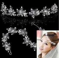 Crystal Crown bride wedding hair accessories flower head  B22
