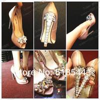 women sandal pumps women shoes high heel platform rhinestone pumps sexy high heels prom bridal ladies wedding shoes peep toe 34