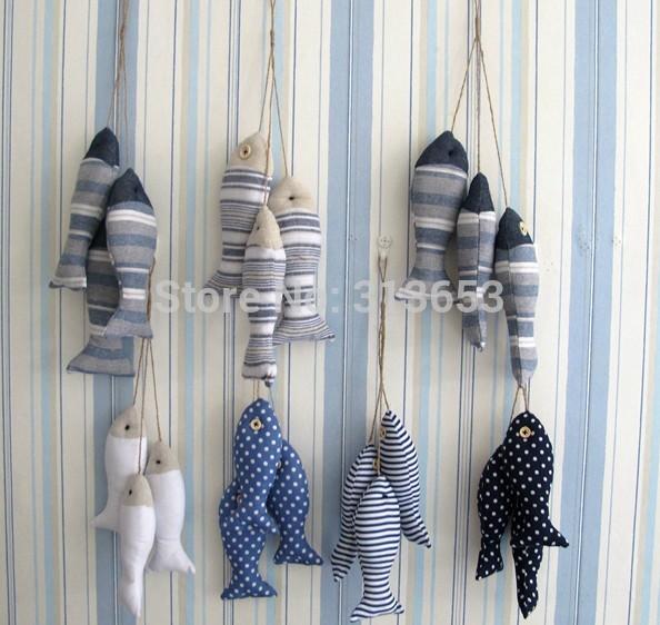 3pcs/ pack zakka cloth Mediterranean fish home accessories decorative wall ornaments crafts gifts/ -free shipping(China (Mainland))