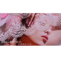 DIY corded lace cloth patch wedding veil lace trim wedding accessories hair ornaments handmade shoes flowers trim