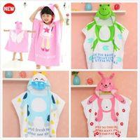 1pc Baby Kid Girls Boys Cartoon Beach Bath Towel Bathrobe Clothes Washcloth