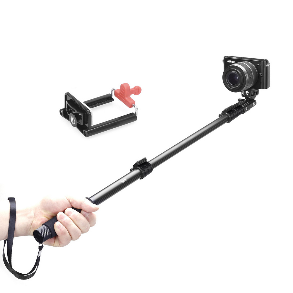 extendable camera selfie self portrait shooting pole adjustable handheld monopod mount holder. Black Bedroom Furniture Sets. Home Design Ideas