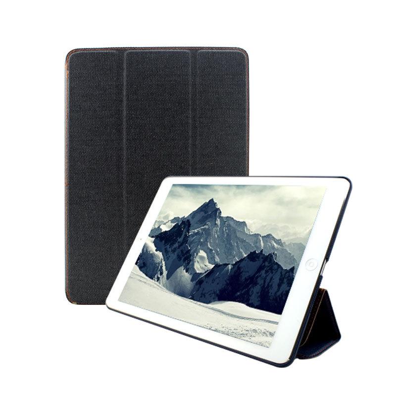 Denim Cover For iPad mini retina Case Fashion Leather Magnetic Smart Cover For ipad mini/mini 2 case Free shipping(China (Mainland))