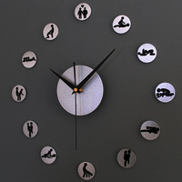 M29 DIY Creative fun DIY wall clock SEXUAL 24Hours Sex/Novelty Wall Clock for ADULTS ONLY!