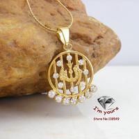 KT-6 Classic 18K Gold Plated Muslim islamic Allah Hollow out pendants 2pcs/lot