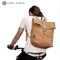 bike backpack vintage canvas with leather men's schoolbag random travel bags women kanken