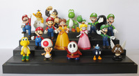 "18 pcs/set Super Mario bros games mini PVC action figures dolls toys models Gift kids NEW 1~2.5"" wholesale"
