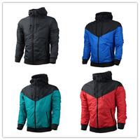 2014New Men Spring Autumn Hoodie Jacket Coat Sport Suit Sportswear Jogging Clothes Windproof Waterproof Breathable outdoor S-3XL
