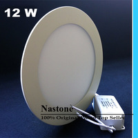 Ultra thin design led panel light 12W Round LED ceiling recessed grid downlight / slim round panel light free shipping