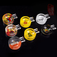 COHIBA cigar cylinder Cigar Ashtray  Fine Cuban cigar ashtray glass  Choose a variety of colors(China (Mainland))