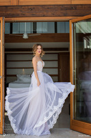 2014 Luxury Julie Vestidos De Novia Lace Transparent Backless Pearls Crystals Detachable Skirt Mermaid Wedding Dress Bridal Gown