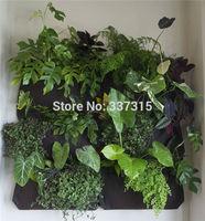 Hanging Vertical Garden Planter 6 Pockets living wall green planter - recycled PET felt