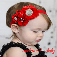 MOQ 1 pcs 2014 New Baby wedding lace chiffon flower headband kids infant  headband ribbon flower headwear hair accessories
