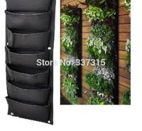 7-Pockets Hanging Vertical Garden Planter Home Garden Wally Decoration Planters free shipping