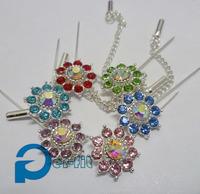 hijab pin scarf shiny pins crystal scarf pin free ship islamic fixed safety pin 6 colors 12pc/lot