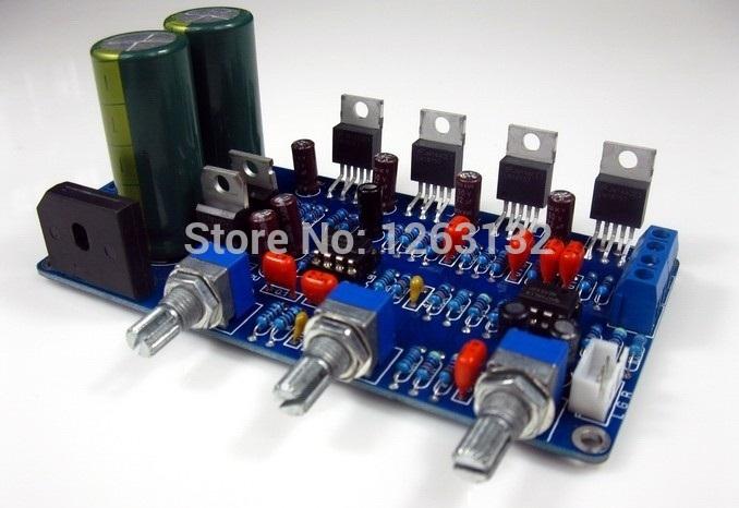 lm1875 2.1 canais subwoofer placa amplificador kit sem dissipador ac15v-0-ac15v(China (Mainland))