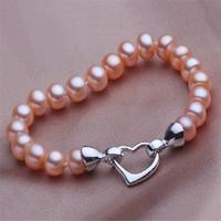 9-10 mm bread shape AAA, natural freshwater pearl bracelet, ladies accessories