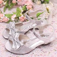 Glitter Diamante Children Silver Girls Summer Sandals Kids Shoes Drop/Free Shipping