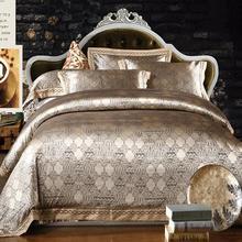 Free shipping,luxury jacquard bedding set.classical bed set 4 pcs.(China (Mainland))