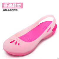 Heterochrosis 2014 summer pedicled with hole sandals flat heel women's beach jelly flat sandals
