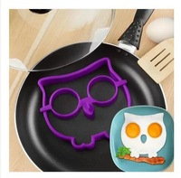 NEW 2014 1 pcs Silicone OWL cooking tools egg ring Novelty Breakfast funny side up eggs Mould