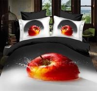 Gray Queen Size 100% Cotton bedding Include Duvet cover Bed sheet pillowcase Free shipping