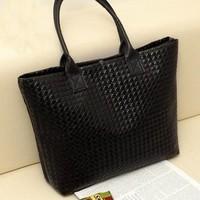 2014 new Europe women handbag on shoulder bags Lingge hand woven bag leisure bag big bag wholesale free shipping
