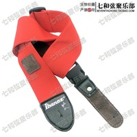 Free shipping red real Leather Head electric guitar, electric bass, Guitar Strap, Guitar Suspender/with pick bags