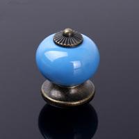 10pcs Dragon Ball Ceramic Handle Pull Knobs Cabinet Door Cupboard Drawer Locker Vintage Retro Closet Knobs multi colors red blue